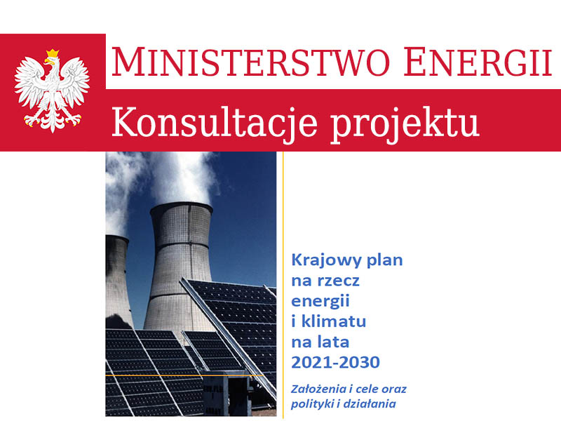 Projekt Krajowego planu na rzecz energii i klimatu na lata 2021-2030. Uwagi INSPRO do projektu.